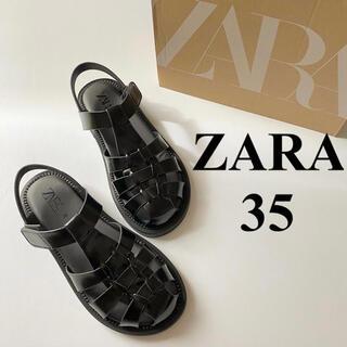 ZARA - 希少❤️35 ZARA フラットケージサンダル todayful H&M