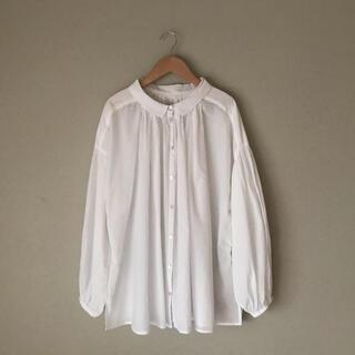 SM2 - サマンサモスモス  ギャザーブラウス インド製 綿100% コットンシャツ 白