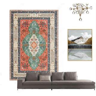 ヨーロッパのエスニックスタイルのボヘミアンアメリカンのリビングルームのカーペット