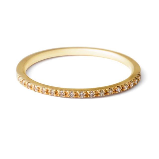 agete(アガット)のアガット K10 ダイヤモンド ハーフエタニティ ピンキーリング agete レディースのアクセサリー(リング(指輪))の商品写真