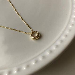 N08ゴールド Oリングネックレス silver925 韓国