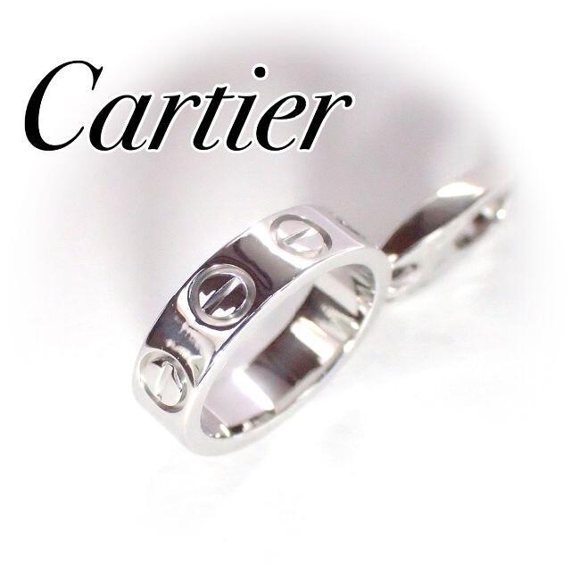 Cartier(カルティエ)のカルティエ cartier K18WG ラブチャーム トップ 保証書 レディースのアクセサリー(ネックレス)の商品写真