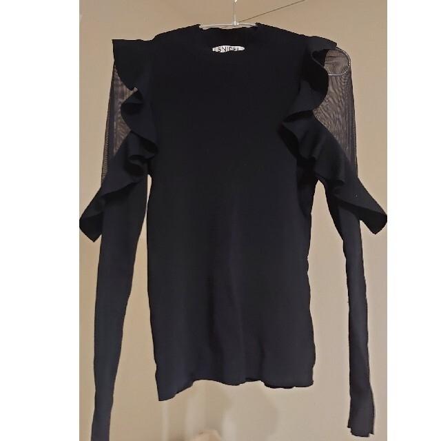 snidel(スナイデル)のフリル切り替えニット スナイデル 正規品 レディースのトップス(ニット/セーター)の商品写真