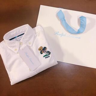 POLO RALPH LAUREN - 新品 ラルフローレン   今季 ベビー 12M 白 シャツ 定価¥13,090