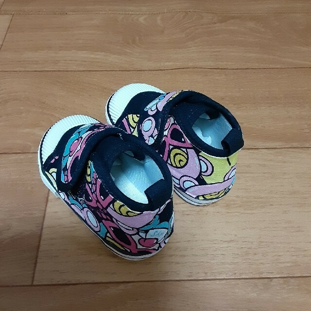 HYSTERIC MINI(ヒステリックミニ)の専用です♥️セール価格♥️ハイカットスニーカー♥️12.5cm 黒 キッズ/ベビー/マタニティのベビー靴/シューズ(~14cm)(スニーカー)の商品写真