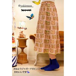 franche lippee - おはようジャガードスカート ピンク yukiemon フランシュリッペ