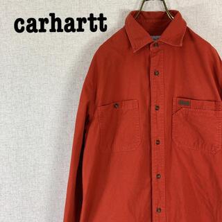 carhartt - carhartt カーハート ワークシャツ ワンポイントロゴ オレンジ