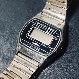 シチズン(CITIZEN)のCITIZEN Q&Q 希少ロゴ入り カジキ デジタルビンテージ腕時計(腕時計(デジタル))