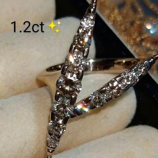 カシケイ❤ネイキッド リング  1.2ct ダイヤモンド