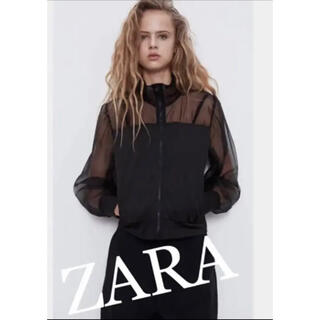 ZARA - 【新品】★ZARA ザラ チュールジャケット ブラック M