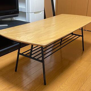 値下げ ローテーブル 木材 パイプ 120×50(ローテーブル)