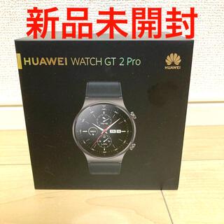 ファーウェイ(HUAWEI)の新品未開封 HUAWEI WATCH GT 2 PRO ナイトブラック(その他)