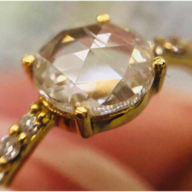 💗大粒💓ローズカット フルエタ リング インドジュエリー レディースのアクセサリー(リング(指輪))の商品写真