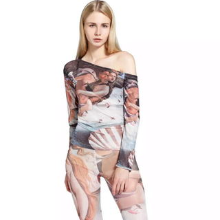 ART オフショルダー ヴィーナス誕生 tops(Tシャツ(長袖/七分))