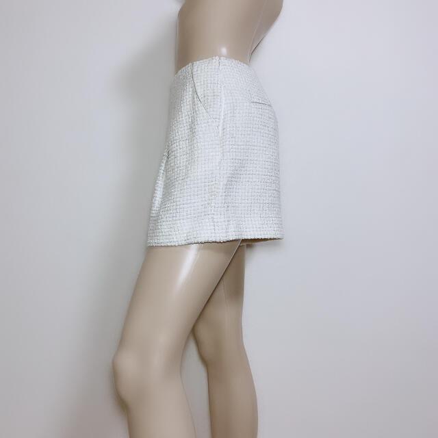 Apuweiser-riche(アプワイザーリッシェ)のもて服♪アプワイザーリッシェ ラメツイードショートパンツ♡レッセパッセ ストラ レディースのパンツ(ショートパンツ)の商品写真