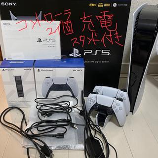 プレイステーション(PlayStation)のPlayStation 5 本体 デジタルエディション PS5 セット 保証3年(家庭用ゲーム機本体)