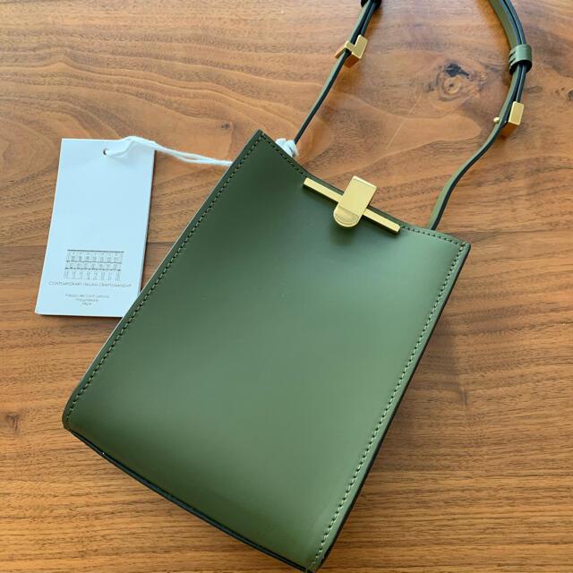 DEUXIEME CLASSE(ドゥーズィエムクラス)の値下✨ZANCHETTI ザンケッティZETAポシェットオリーブ レディースのバッグ(ショルダーバッグ)の商品写真