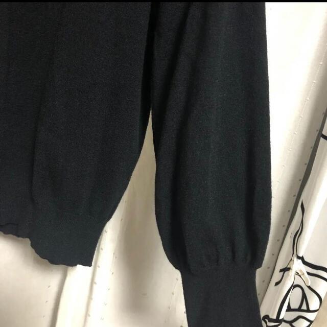 新品未使用)襟付きバルーン袖トップス 4L  ブラック レディースのトップス(ニット/セーター)の商品写真