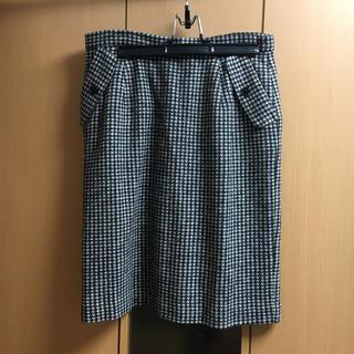 デミルクスビームス(Demi-Luxe BEAMS)のビームス ウールスカート 美品(ひざ丈スカート)