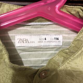 ザラキッズ(ZARA KIDS)のスタンドカラーシャツ(ブラウス)