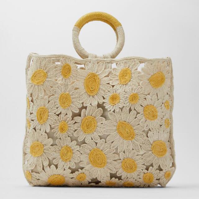ZARA(ザラ)の【完売品・タグ付き新品】ZARA デイジー トートバッグ 2way レディースのバッグ(トートバッグ)の商品写真