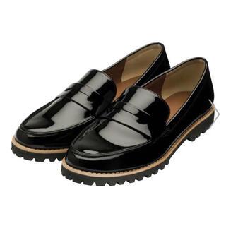 ジーユー(GU)のGU タンクソールローファー ブラック M(ローファー/革靴)
