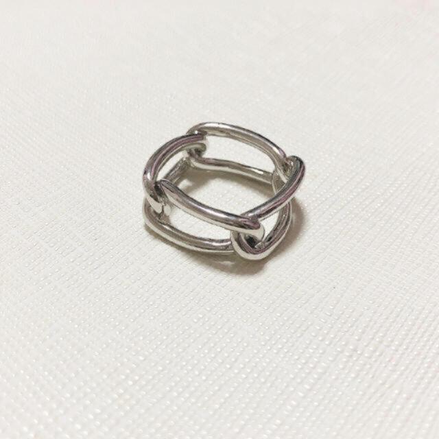 TODAYFUL(トゥデイフル)のメタル シルバー チェーンリング レディースのアクセサリー(リング(指輪))の商品写真