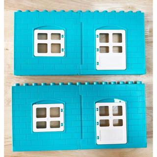 壁4枚セット(水色) アンパンマンブロックラボ レゴデュプロ互換品