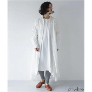 メルロー(merlot)のFillil ポケットワイドシャツワンピース オフホワイト(ロングワンピース/マキシワンピース)