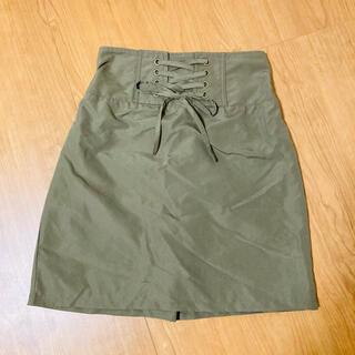 シマムラ(しまむら)の編み上げスカート【サイズM】(ミニスカート)