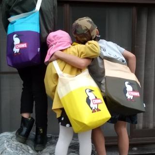 チャムス(CHUMS)の【値下げ終了間近!!!】CHUMS×十六茶クーラーバッグ→リメイク斜めがけバッグ(ノベルティグッズ)