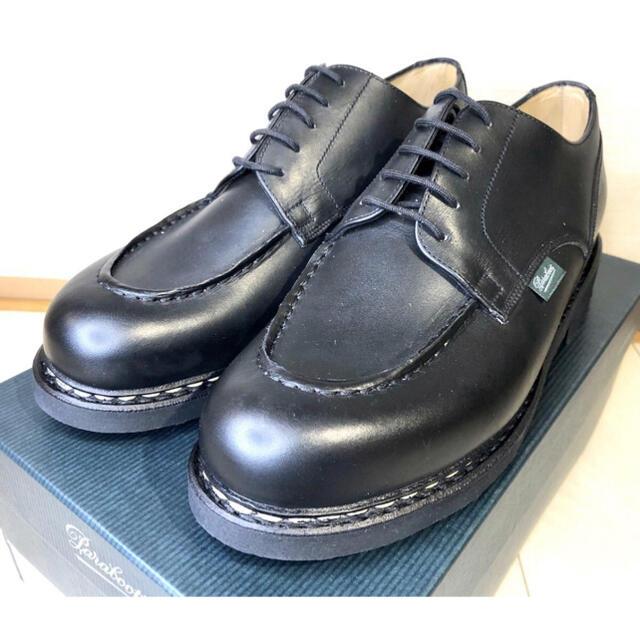 Paraboot(パラブーツ)の新品未使用 パラブーツ シャンボード noir ブラック 7.5 710709 メンズの靴/シューズ(ドレス/ビジネス)の商品写真