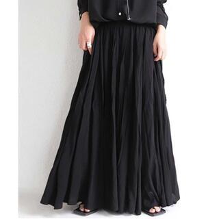 antiqua - 【antiqua】フレア デザイン スカート ブラック【アンティカ】