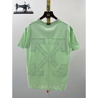 OFF-WHITE - 2021SS off-white Tシャツ白 緑