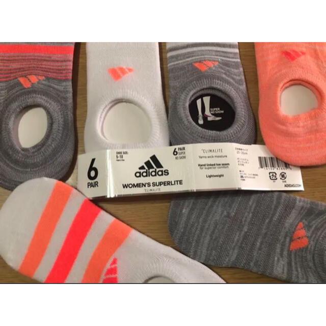 adidas(アディダス)のadidas レディース用靴下6足組 &スラキュット4袋1年分 レディースのレッグウェア(ソックス)の商品写真