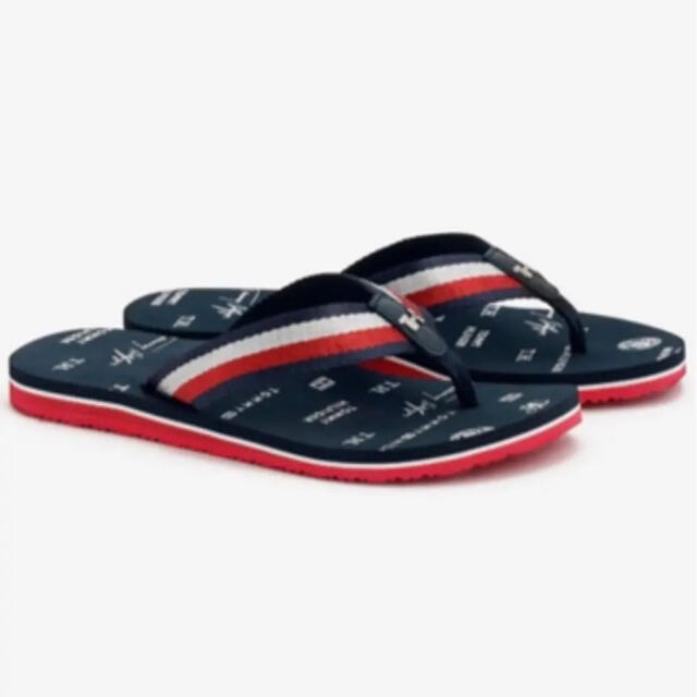 TOMMY HILFIGER(トミーヒルフィガー)の新品未使用  トミーヒルフィガー ビーチサンザル  アイコンロゴ ビーチサンダル レディースの靴/シューズ(ビーチサンダル)の商品写真