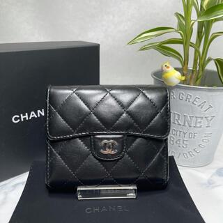 CHANEL - 現行モデル✨美品✨CHANEL✨ラムスキン 三つ折りウォレット コインケース