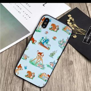 バンビ グレー 総柄 iPhoneケース 12 新品