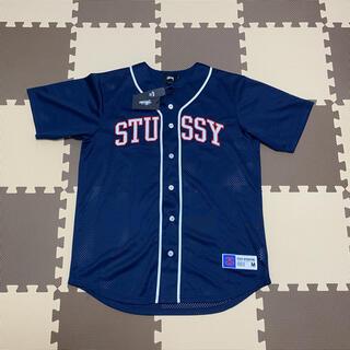 STUSSY - ステューシー メッシュベースボールシャツ