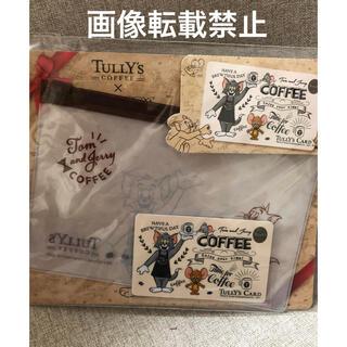 タリーズコーヒー(TULLY'S COFFEE)のタリーズトムとジェリータリーズカード&スライドジッパーセット残高0円(キャラクターグッズ)
