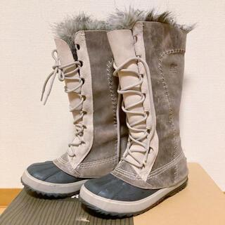 ソレル(SOREL)のソレル SOREL スノーブーツ 23cm モカシンロング ファー付(ブーツ)