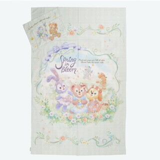 ダッフィー - ダッフィー スプリングインブルーム 掛け布団カバーと枕カバー セット