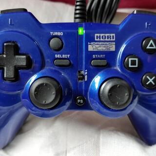 プレイステーション3(PlayStation3)のPS3 USB連射コントローラー ホリパッド3ターボプラス ブルー(その他)