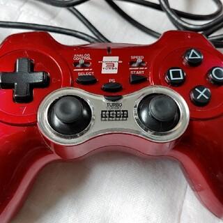 プレイステーション3(PlayStation3)の【送料無料】PS3 USB連射コントローラー ホリパッド3 レッド 赤 有線コン(その他)