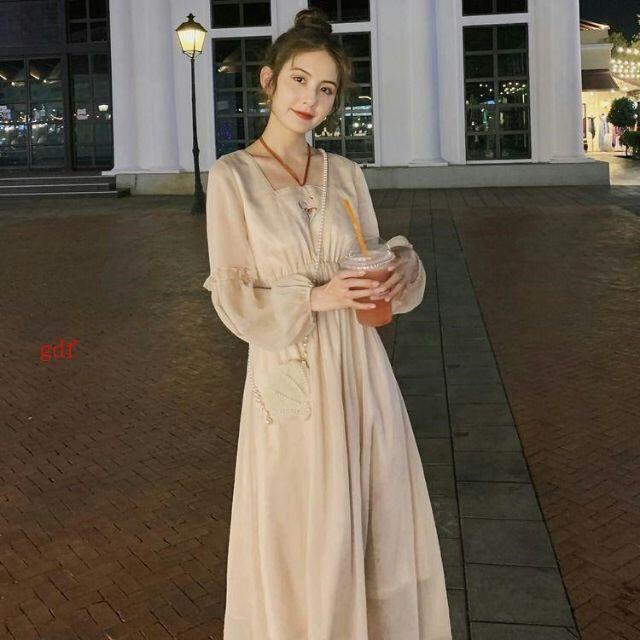 刺繍腰シフォンのワンピースの女性の春の服の新モデルの天女のスカートs-2xl レディースのワンピース(ロングワンピース/マキシワンピース)の商品写真