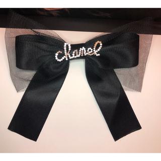 CHANEL - CHANEL ヘアバレッタ 黒 レース 新品 ビジュー パール