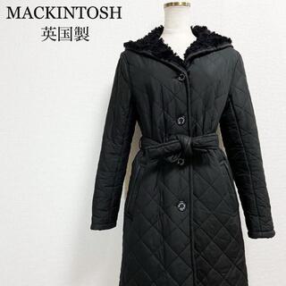 マッキントッシュ(MACKINTOSH)のマッキントッシュ 英国製 ボア キルティング ロングコート レディース 黒(ロングコート)