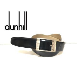 Dunhill - 90's dunhill ダンヒル エナメルレザーベルト 4ホール BLK