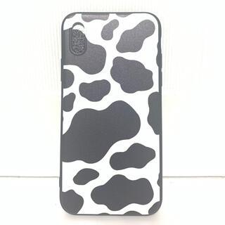 iPhoneXS/11pro/X ケース 牛 ホルスタイン WHT×BLK