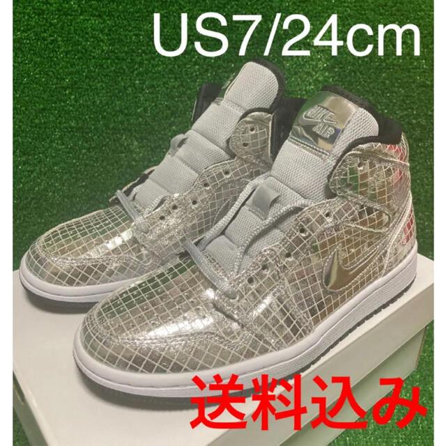 NIKE(ナイキ)の【海外限定】WMNS AIR JORDAN MID SE DISCO BALL レディースの靴/シューズ(スニーカー)の商品写真